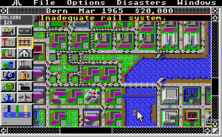Large screenshot of Sim City