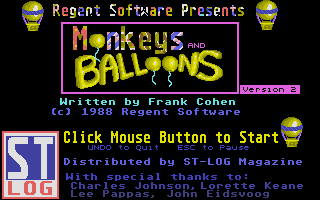 Thumbnail of other screenshot of Monkeys & Balloons
