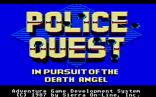 Thumbnail of other screenshot of Police Quest - In pursuit of the death angel