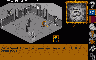 A whip ? In the first floor corridor ?!? Guess I' ll have to investigate on this ladie' s strange sex habits... ;)
