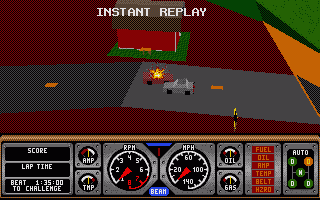 Screenshot of Hard Drivin'