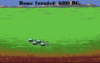 Forget about Romulus and his brother, the wolf, the seven kings; Rome was founded in 4000 B.C. by some western-style colonists, as the picture shows. And yes, it WAS built in a day.