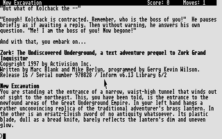 Thumbnail of other screenshot of Zork - The Undiscovered Underground
