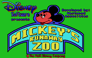 Large screenshot of Mickey's Runaway Zoo