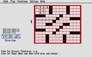 Screenshot of CrosSTword