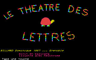 Screenshot of Le Theatre des Lettres