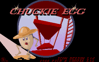 Screenshot of Chuckie Egg