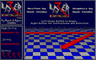 Screenshot of Lazer Ball