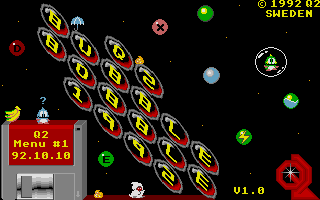 Screenshot of Q2 Bubble Bobble 1992