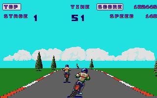 Screenshot of Enduro Racer