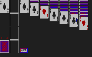 Large screenshot of Klondike Solitaire