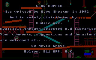 Screenshot of Clod Hopper