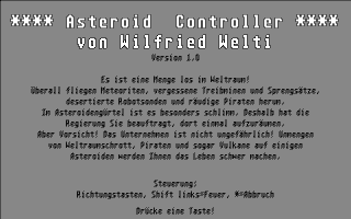 Thumbnail of other screenshot of Asteroid Controller