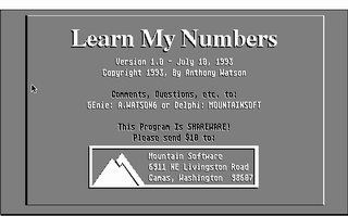 Thumbnail of other screenshot of Learn My Numbers