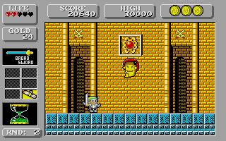 Screenshot of Wonderboy in Monsterland