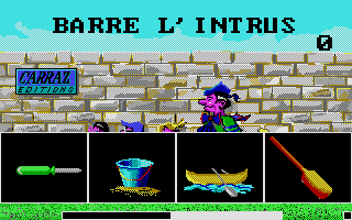 Screenshot of Barre l'intrus