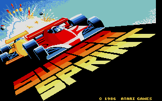 Screenshot of Super Sprint