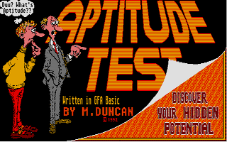 Screenshot of Aptitude Test