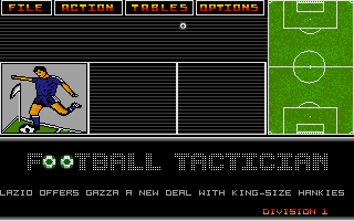 Screenshot of Football Tactician - Division 1