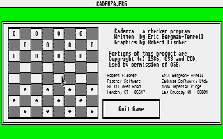 Screenshot of Cadenza