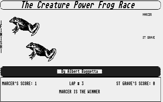 Screenshot of Creature Power Frog Race