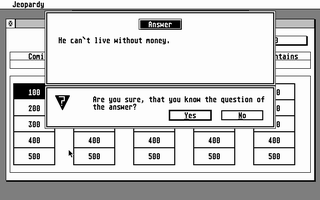 Screenshot of Jeopardy