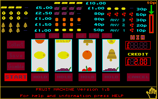Large screenshot of Fruit Machine