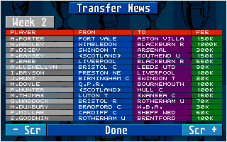 Thumbnail of other screenshot of Championship Manager 94 - End of Season Edition