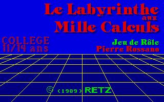 Screenshot of Le Labyrinthe Aux Mille Calculs