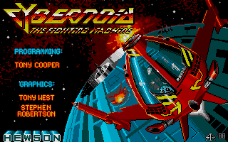 The fantastic loading screen of your ship...in all its 16 bit glory.