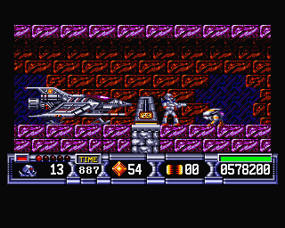 Screenshot of Turrican II - The Final Fight