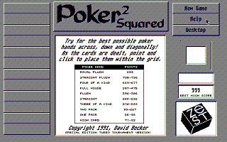 Screenshot of Poker Squared