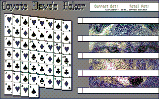 Large screenshot of Coyote Dave's Poker