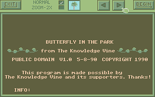 Screenshot of Butterfly in the Park