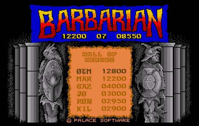 Thumbnail of other screenshot of Barbarian - The Ultimate Warrior