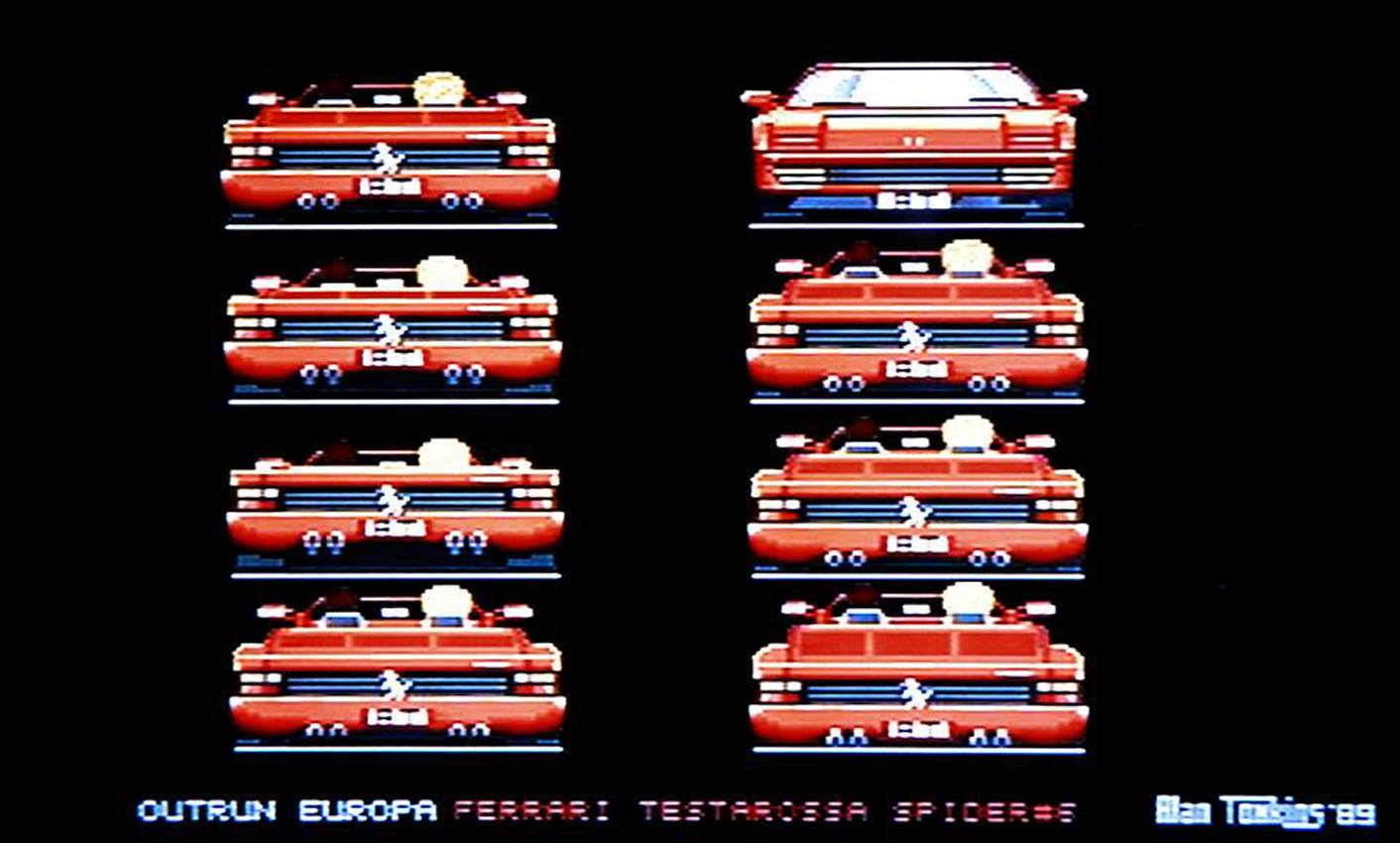 Screenshot of OutRun Europa (unreleased version)