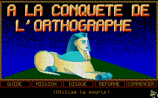 Large screenshot of Conquête De L'Orthographe, À La - 4e/3e