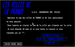 Screenshot of Villes De La France, Les