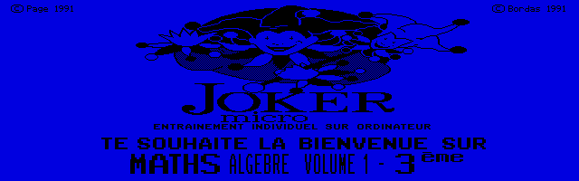 Thumbnail of other screenshot of Joker Micro - Maths 3e Volume 1