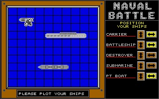 Screenshot of Naval Battle