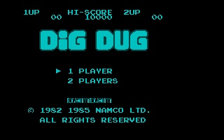 Large screenshot of Nesulator - Dig Dug