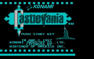 Screenshot of Nesulator - Castlevania