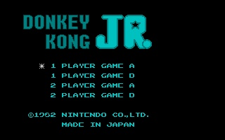 Screenshot of Nesulator - Donkey Kong Jr.