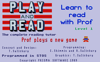 Large screenshot of Play and Read - Learn to read with prof