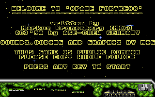 Screenshot of Space Fortress