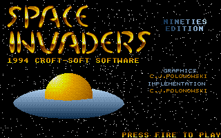 Large screenshot of Space Invaders - Nineties Edition