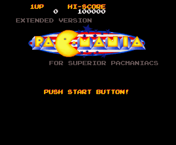 Screenshot of Pacmania Extended