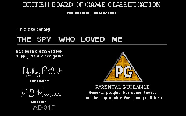Screenshot of Spy Who Loved Me, The