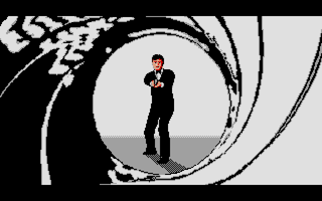 The ST version of the famous gun barrel sequence, it looks kinda corny.