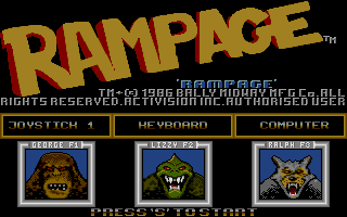 Screenshot of Rampage